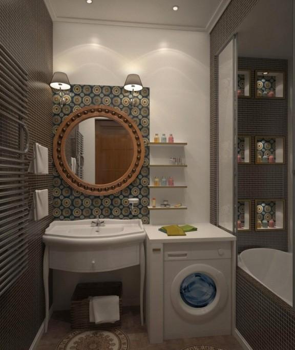 современный ремонт ванной комнаты и туалета фото