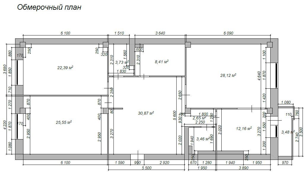 Перепланировка 4-х комнатной хрущевки - квартиры