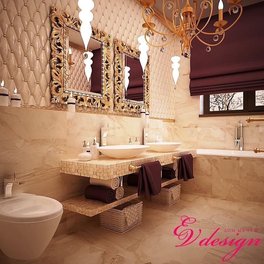 Дизайн интерьера коттеджа в п.Чишмы, неоклассический стиль