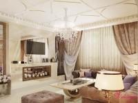 Дизайн интерьера гостиной в п.Чишмы, стиль арт-деко