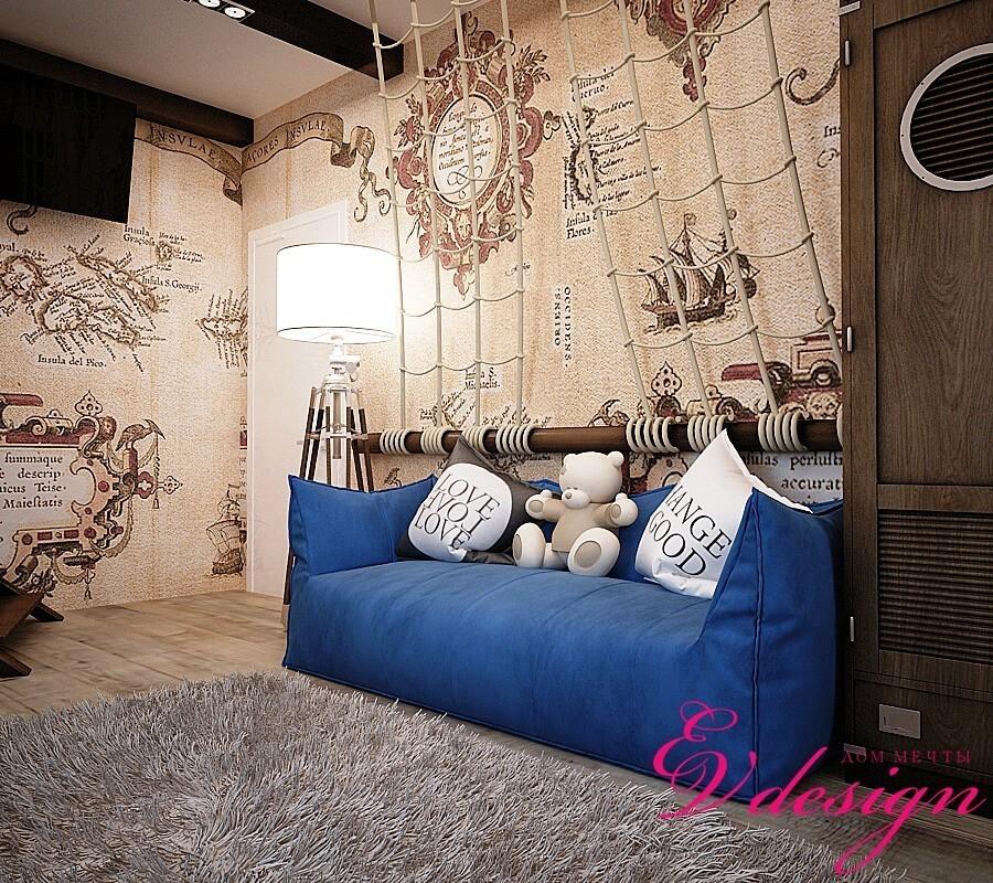 Дизайн интерьера квартиры в Уфе, стиль лофт