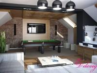 Дизайн интерьера коттеджа в Юматово, современный стиль